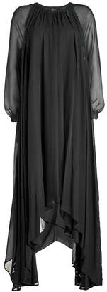 Steffen Schraut Chiffon Dress with Lace