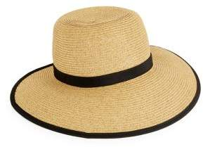 Collection 18 Contrast-Trimmed Facesaver Sun Hat