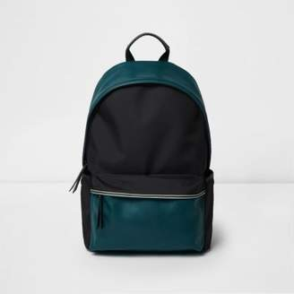 River Island Black color block backpack