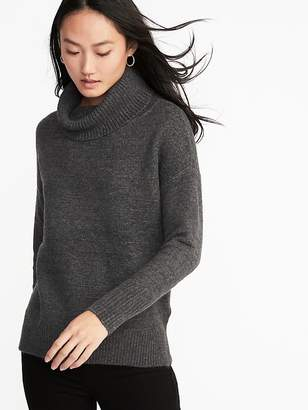Old Navy Slouchy Garter-Stitch Turtleneck Sweater for Women