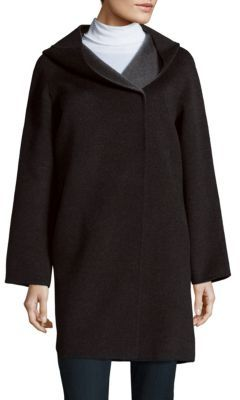 Hooded Long Sleeve Coat $695 thestylecure.com