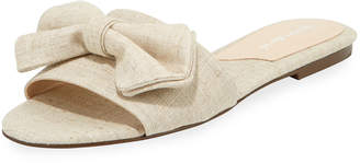 Charles David Slipper Slide Canvas Mule with Bow