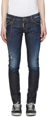 Dsquared2 Blue Distressed Clement Jeans $545 thestylecure.com