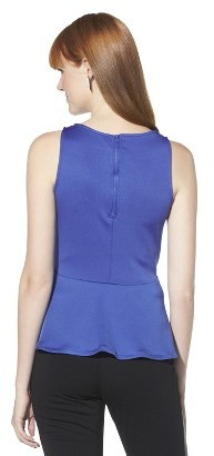 Mossimo Women's Sleeveless Scuba Peplum Top - Assorted Colors