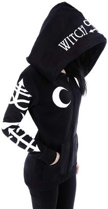 R & E RE Style Restyle Witchcraft oversized hood Gothic Alternative Goth hoodie (L)