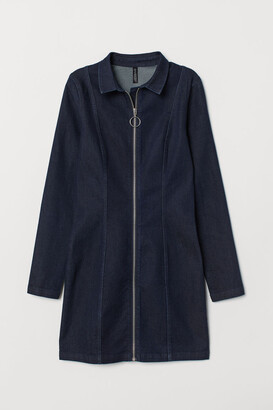 H&M Fitted Shirt Dress - Blue