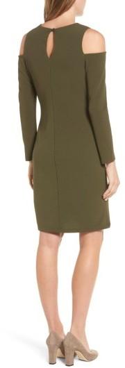 Women's Halogen Knit Cold Shoulder Dress 5