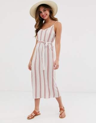 Pieces stripe midi dress