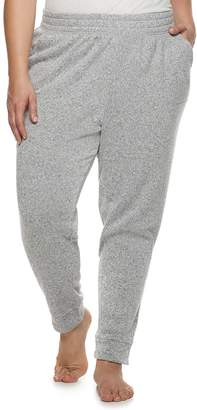 Sonoma Goods For Life Plus Size SONOMA Goods for Life Split Cuff Fleece Jogger Pajama Pants