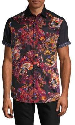 Robert Graham Short-Sleeve Printed Button-Down Shirt