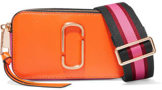 Marc Jacobs Snapshot Textured-leather Shoulder Bag - Orange