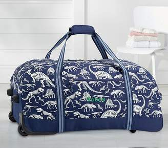 Pottery Barn Kids Mackenzie Blue Grey Gid Carry All Travel Bag