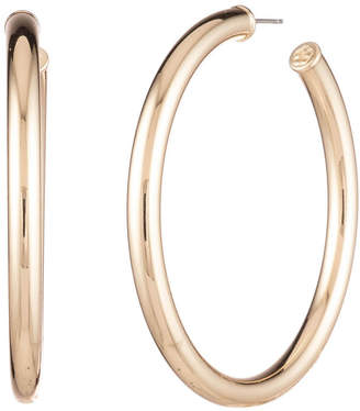 Trina Turk BRUNCHING IN PALM SPRINGS STONE METAL HOOP EARRING