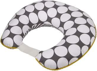Bacati Dots/Pinstripes Grey/Yellow Nursing Pillow Cover