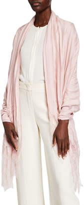 Valentino Striped Stole w/ Lace