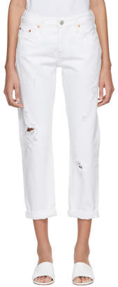 Levi's Levis White 501 Tapered Jeans