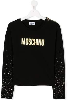 Moschino Kids TEEN logo print T-shirt