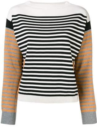 Alberta Ferretti colour-block striped sweater