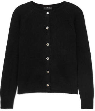 A.P.C. Anda Wool-blend Cardigan - Black