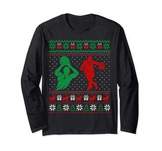 Basketball Guy Ugly Christmas Sweater Unisex Long Sleeve