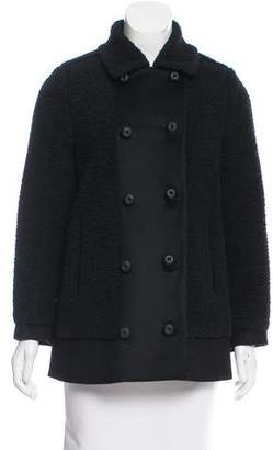 Bottega Veneta Double-Breasted Knit Coat
