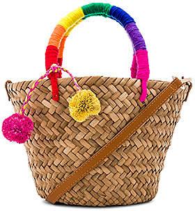 Kayu x REVOLVE Mini St Tropez Leather Strap Bag