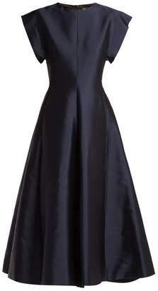 The Row Whitney Silk Mikado Gown - Womens - Navy