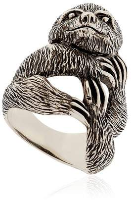 Manuel Bozzi Sloth Sterling Silver Ring