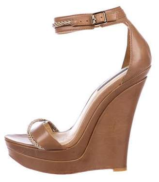 Rachel Zoe Leather Ankle Strap Wedges