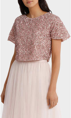 Shell Pink Beaded Top