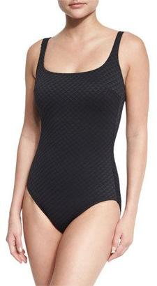 Gottex Diamond In The Rough One-Piece Swimsuit $108 thestylecure.com