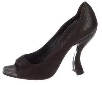 Prada Suede Toe-Strap Sandals