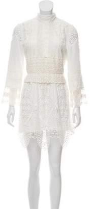 Anna Sui Guipure Lace Mini Dress