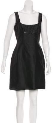 Tahari Silk Embellished Dress