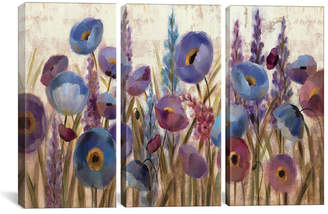 "iCanvas Lupines and Poppies by Silvia Vassileva Gallery-Wrapped Canvas Print - 40"" x 60"" x 1.5"""