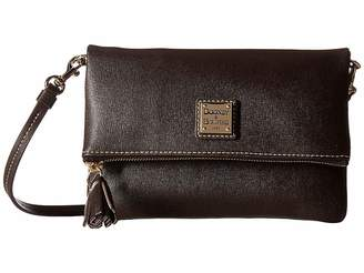 Dooney & Bourke Saffiano Fold-Over Zip Crossbody