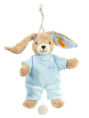 Steiff BabyCenter Hoppel Rabbit with Removable Music Box Plays a Folk Song (Blue, 20cm)