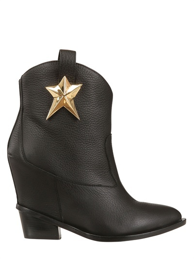 Giuseppe Zanotti 100mm Hammered Leather Low Boots