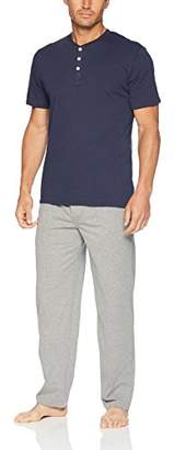 Fruit of the Loom Men's 2-Piece Jersey Knit Pajama Set