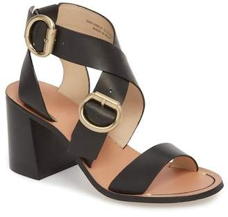 Topshop Natalie Buckled Cross Strap Sandal (Women)