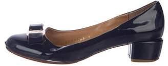 Salvatore Ferragamo Patent Leather Round-Toe Pumps