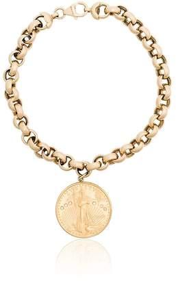 Shay coin pendant 18K gold bracelet
