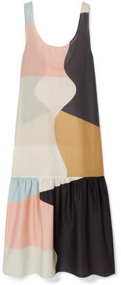 Mara Hoffman Valentina Color-block Organic Cotton-voile Maxi Dress - Peach
