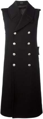 Alexander McQueen double breasted sleeveless coat
