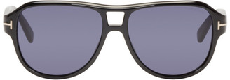Tom Ford Black Dylan Aviator Sunglasses $380 thestylecure.com