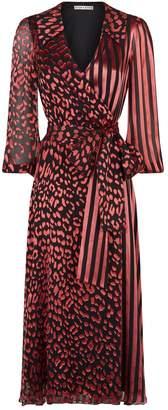 Alice + Olivia Abigail Silk Wrap Dress