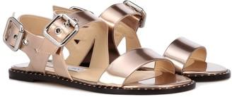 Jimmy Choo Astrid Flat metallic leather sandals