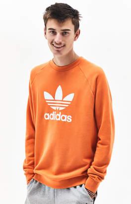 adidas Trefoil Warm-Up Orange Crew Neck Sweatshirt