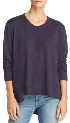 Wilt Long-Sleeve Asymmetric Cotton Tee