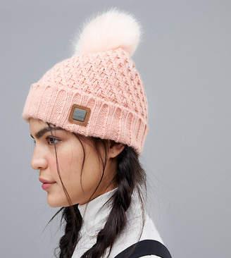 Roxy Blizzard Beanie Hat in Pink